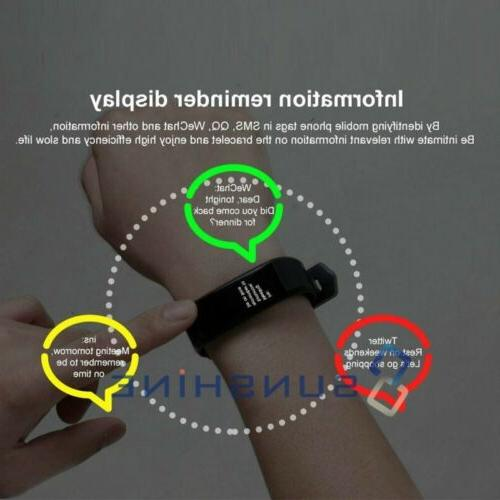 Rechargeable Fit**bit Heart Rate Calorie Tracker