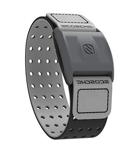 Scosche Heart Monitor Armband Heart Rate Armband Monitor with ANT+ - Gray