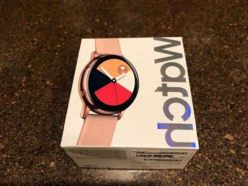 sealed galaxy watch active 40mm rose gold