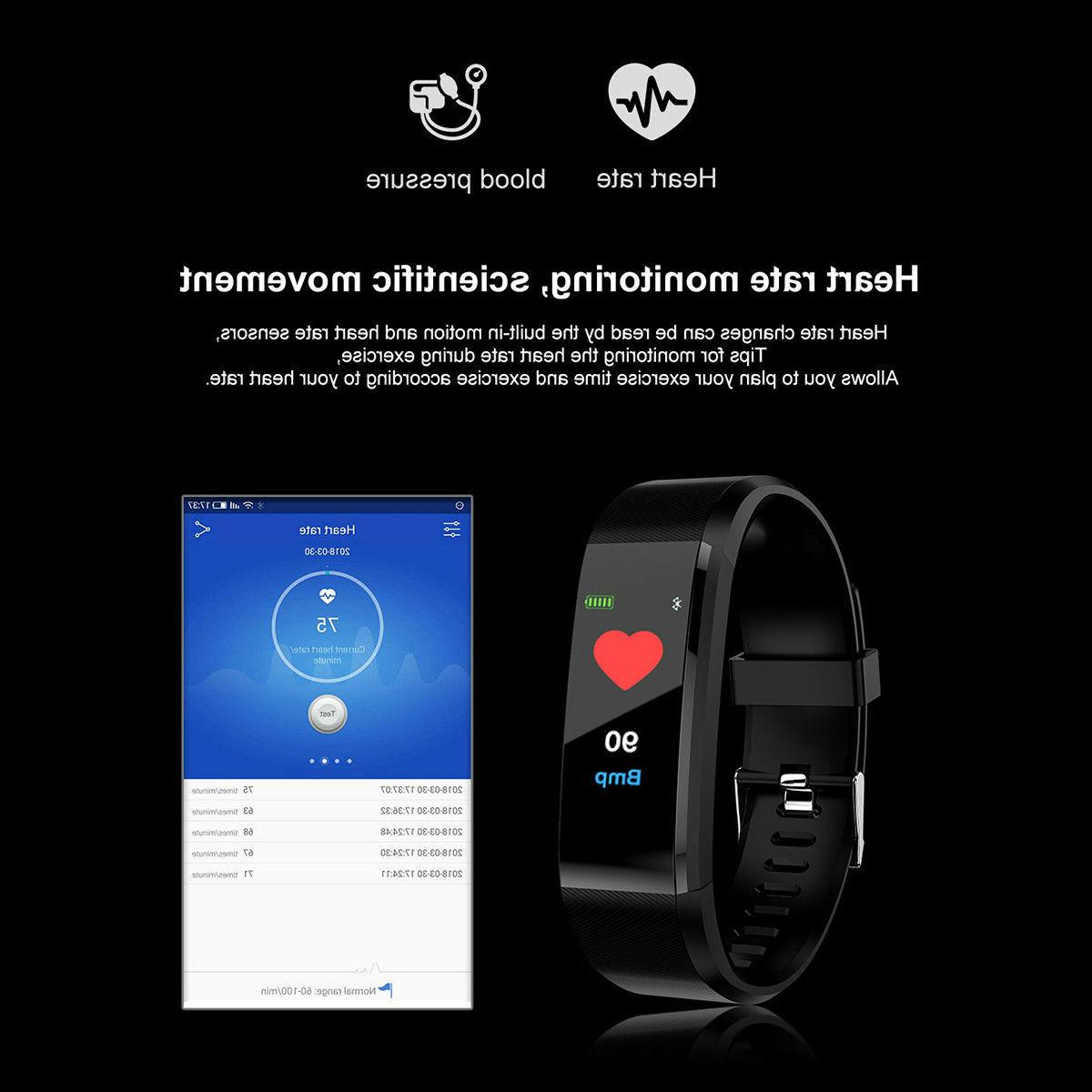 Smart Watch Bracelet Wristband Tracker Pressure Heart