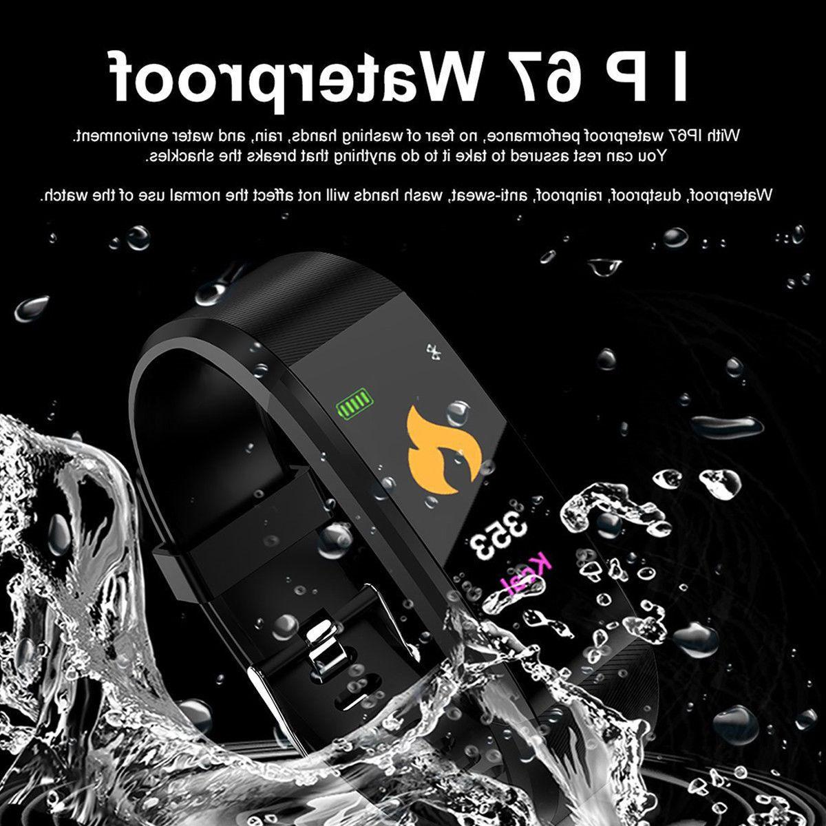 Smart Band Watch Bracelet Wristband Fitness Pressure Heart