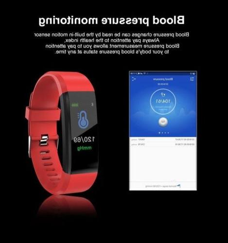 Smart Bracelet Rate Monitor Counter Fitness Watch