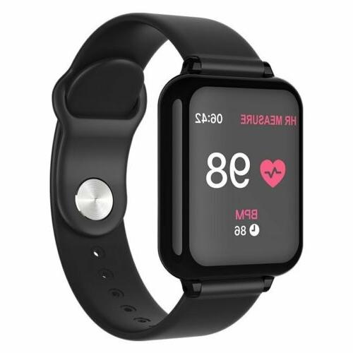 Sports Bluetooth Smart Watch Wristband Blood Pressure Oxygen
