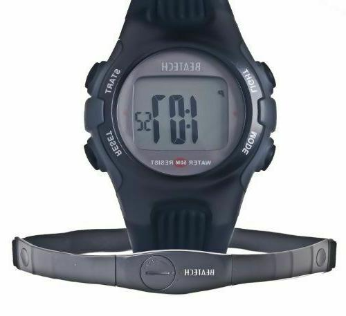 unisex heart rate monitor digital watch