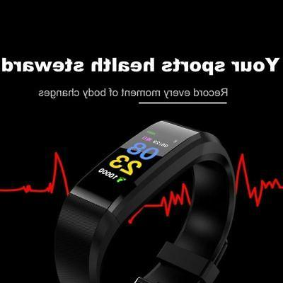 US Smart Wristband HeartRate Monitor Blood Fitness Track Bracelet