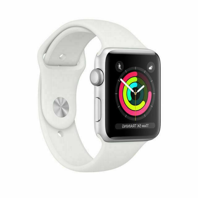 watch series 3 gps with white sport
