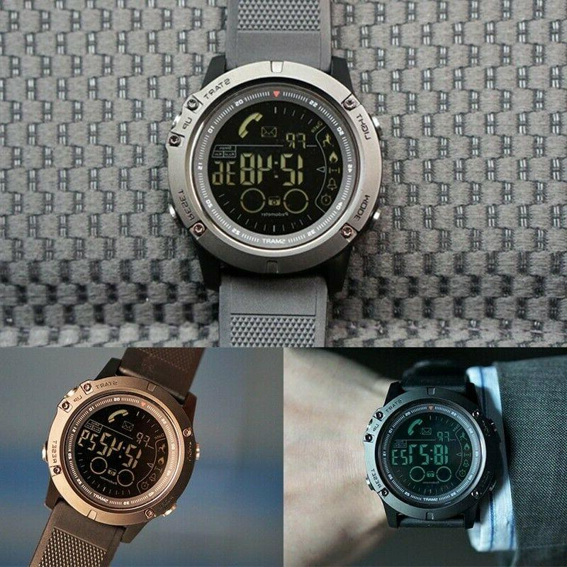 Waterproof Watch Tactical Bluetooth Smartwatch for iOS