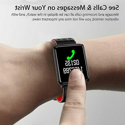 Waterproof Sport Watch Blood Heart Monitor Tracker
