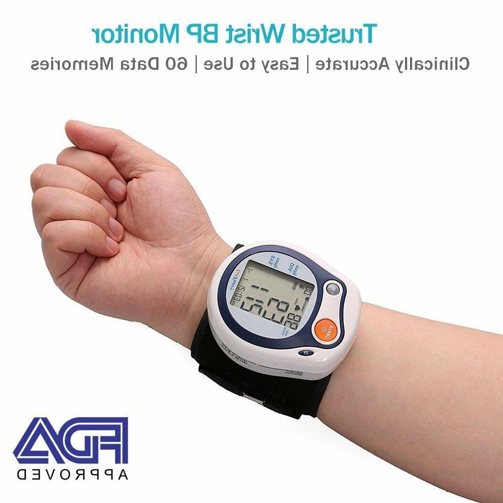 wrist blood pressure monitor pulse heart rate