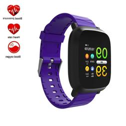 Men Women Smart Watch Waterproof Blood Pressure Heart Rate M