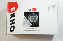 NEW EKHO E-10 Heart Rate Monitor & Transmitter Belt Watch NI