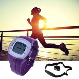 Professional Wireless Heart Rate Monitor Sports Watch w/Ches