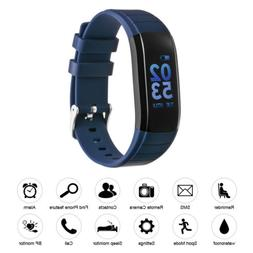 Smart Bracelet Heart Rate Monitor Calorie Counter Blue For A