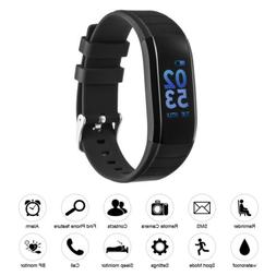 Smart Bracelet Heart Rate Monitor Calorie Counter Black For