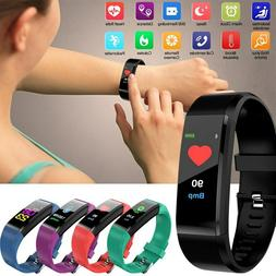 Fitness Sports Blood Pressure Heart Rate Monitor Smart Watch