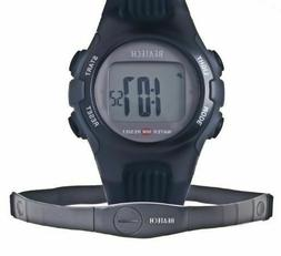 Ovente Unisex Heart Rate Monitor Digital Watch with Chest St