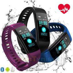 Waterproof Fitness Tracker Heart Rate Monitor Watch Band for