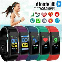 waterproof smart watch fitbit heart rate fitness