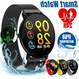 waterproof sport smart watch blood pressure heart