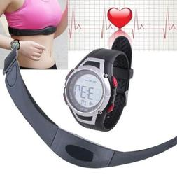 Wireless Backlight Heart Rate Monitor Watch with Chest Strap