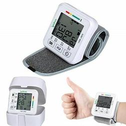 Portable Wrist Blood Pressure Monitor Fast Accurate Pulse/He