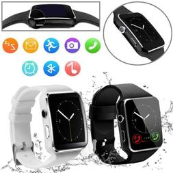 X6 Curved Screen Bluetooth Smart Wrist Watch Phone for Samsu